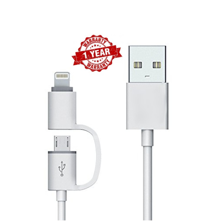 KhoCell 2-1 Data kabel - Lightning/Micro-USB
