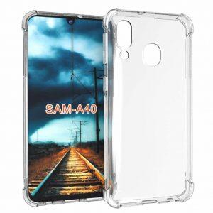 Samsung Galaxy A40 Transparant SIlicone Hoesje (Verharde Rand)
