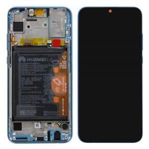 Honor 10 Lite LCD / Scherm Service Pack met frame en batterij voor Honor 10 Lite – Sky Blue