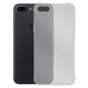 Apple hoesjes Siliconen hoesje voor Apple iPhone 7 Plus / 8 Plus – Schok bestendig – Transparant