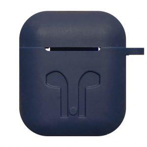 Apple cases Case voor Airpod 1 / Airpod 2 – siliconen hoesje – Donker blauw