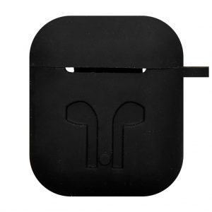 Apple cases Case voor Airpod 1 / Airpod 2 – siliconen hoesje – Zwart