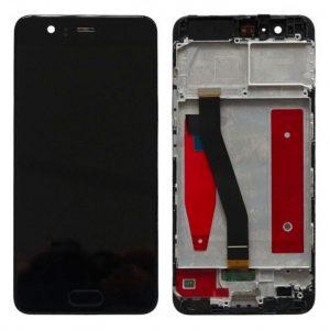 P10 LCD / Scherm met frame voor Huawei P10 – Zwart