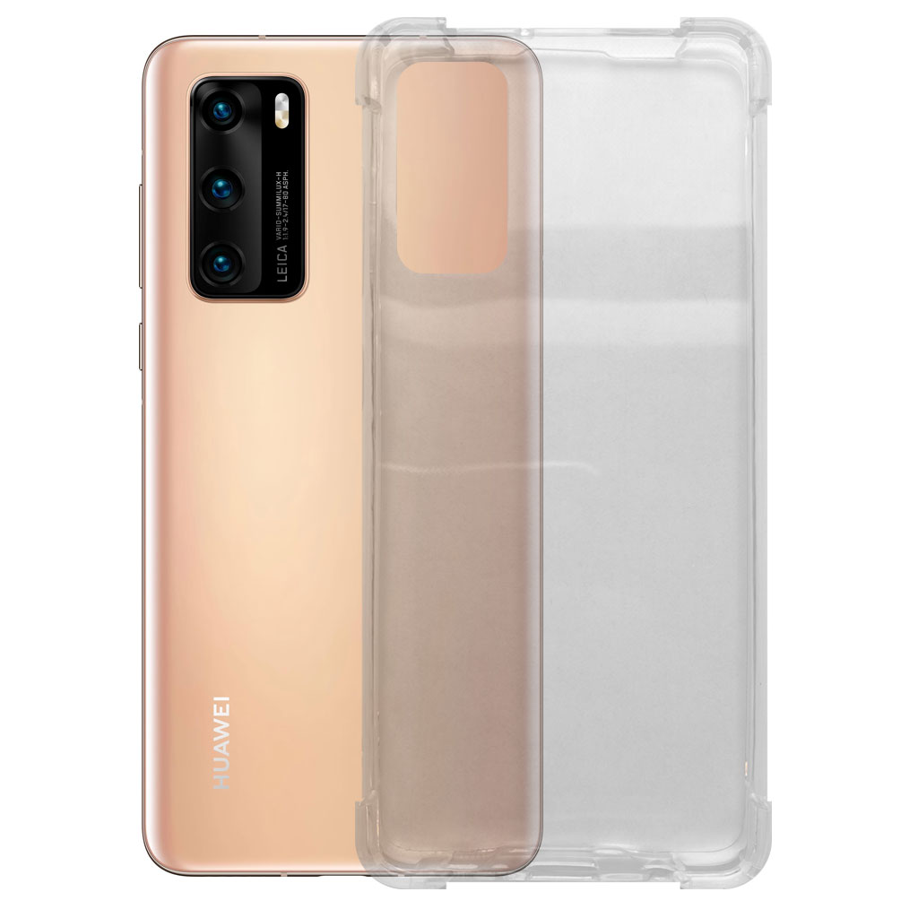 Huawei hoesjes Siliconen hoesje voor Huawei P40 Pro – Schok bestendig – Transparant