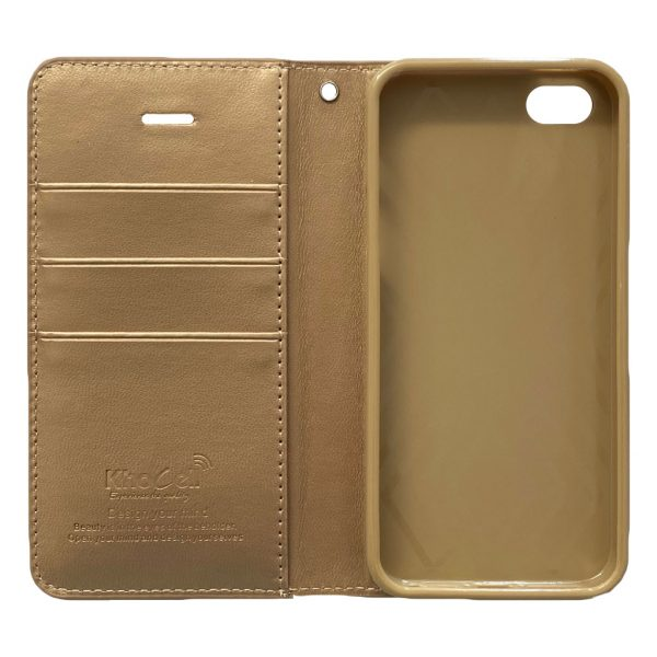 Apple hoesjes iPhone – 5G – 5S – 5SE – Book case – Goud