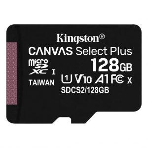 Memory cards Kingston – Micro SD kaart – Class 10 – 128GB