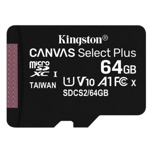 Memory cards Kingston – Micro SD kaart – Class 10 – 64GB