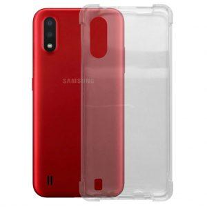 Samsung hoesjes Samsung – Galaxy A01 – Schok bestendig – Siliconen hoesje – Transparant