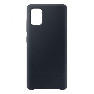 Samsung hoesjes Samsung – Galaxy A51 – Siliconen hoesje – Zwart