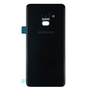 A8 Plus 2018 Achterkant met camera lens voor Samsung Galaxy A8 Plus (2018) – Zwart