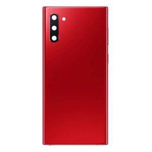 Note 10 Achterkant met camera lens voor Samsung Galaxy Note 10 – Rood