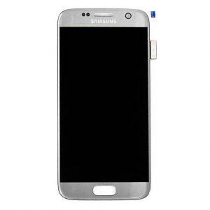 S7 LCD / Scherm voor Samsung Galaxy S7 – Origineel – Service pack – Zilver