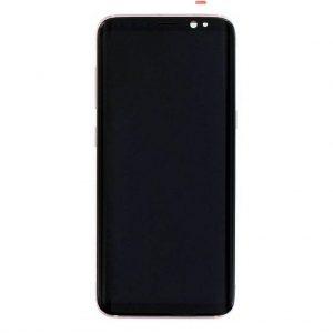 S8 LCD / Scherm met frame voor Samsung Galaxy S8 – Origineel – Service pack – Roze
