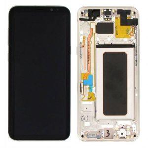 S8 Plus LCD / Scherm met frame voor Samsung Galaxy S8 Plus – Origineel – Service pack – Goud