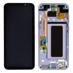 S8 Plus LCD / Scherm met frame voor Samsung Galaxy S8 Plus – Origineel – Service pack – Paars