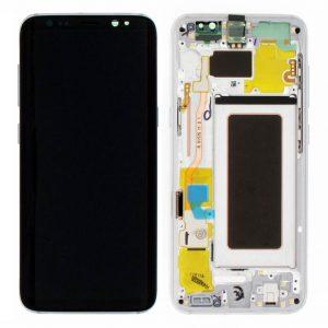 S8 Plus LCD / Scherm met frame voor Samsung  Galaxy S8 Plus – Origineel – Service pack – Zilver