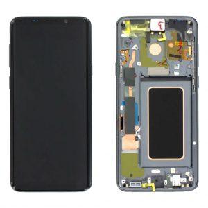 S9 Plus LCD / Scherm met frame voor Samsung Galaxy S9 Plus – Origineel – Service pack – Grijs