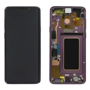 S9 Plus LCD / Scherm met frame voor Samsung Galaxy S9 Plus – Origineel – Service pack – Paars