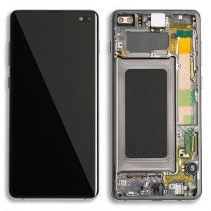 S10 Plus LCD / Scherm met frame voor Samsung Galaxy S10 Plus – Donker grijs