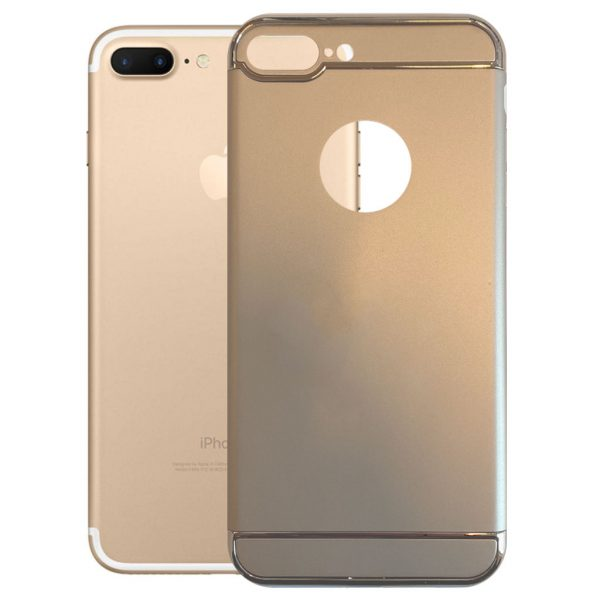 Apple hoesjes Fit Fashion – Hardcase Hoesje –  Geschikt voor iPhone 7 Plus – Goud