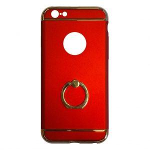 Apple hoesjes Fit Fashion – Hardcase Hoesje –  Met ring – Geschikt voor iPhone 6 Plus/6S Plus – Rood