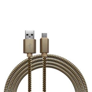 Kabels Khocell – Micro USB Kabel – 1 meter – Goud