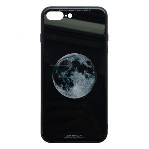 Apple hoesjes WK Design – Azure Stone Series – Hardcase – Voor iPhone 7 Plus / 8 Plus – Wereld – Zwart