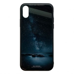 Apple hoesjes WK Design – Azure Stone Series – Hardcase – Voor iPhone X / XS – Nacht– Zwart