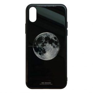 Apple hoesjes WK Design – Azure Stone Series – Hardcase – Voor iPhone X / XS – Wereld – Zwart