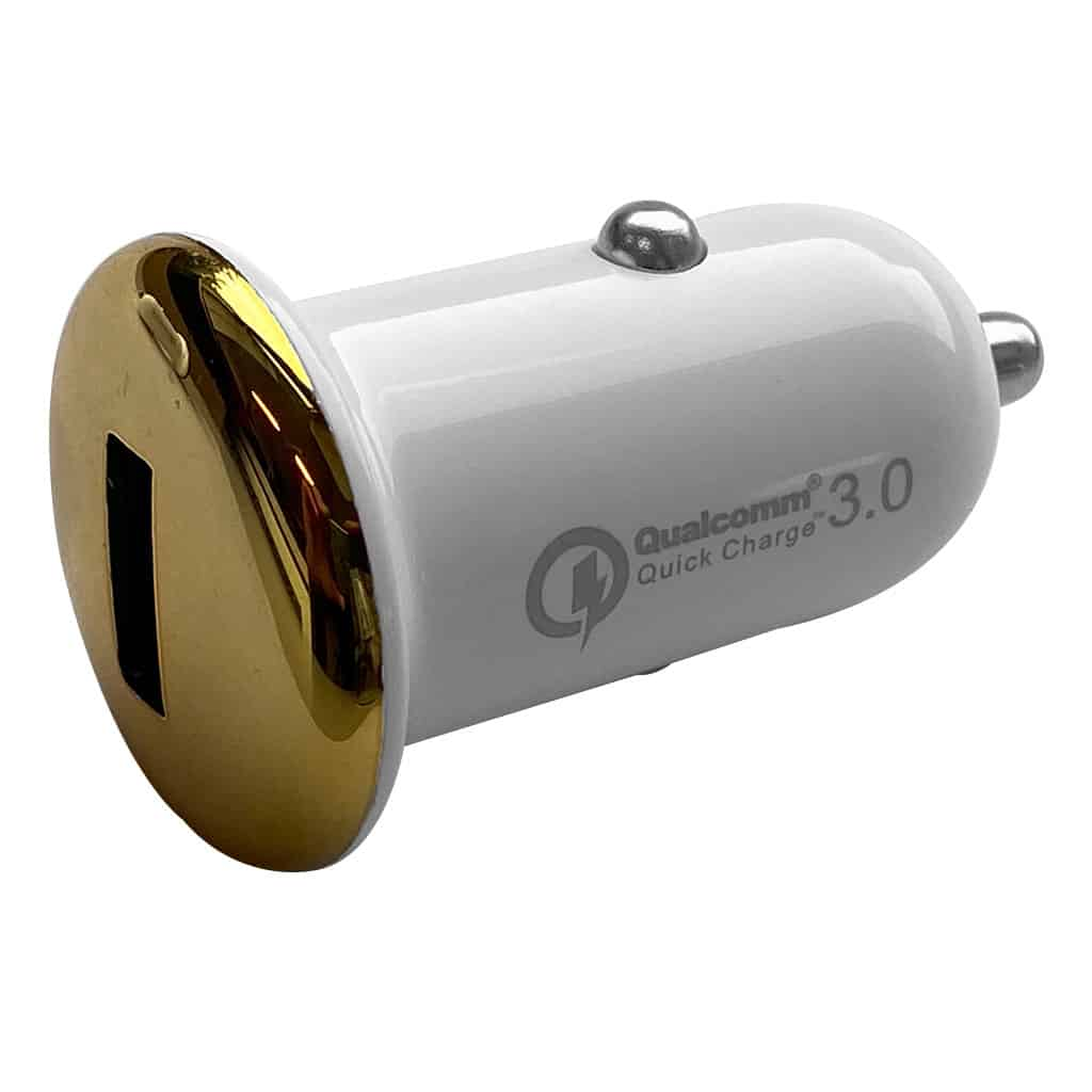 Autoladers Khocell – Quick Car Charger – 1 USB poort – Wit