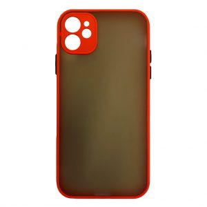 Apple cases My Choice – Siliconen/Hardcase hoesje voor Apple iPhone 11 – Oranje