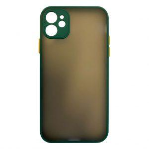 Apple cases My Choice – Siliconen/Hardcase hoesje voor Apple iPhone 12 – Groen