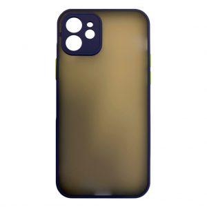 Apple cases My Choice – Siliconen/Hardcase hoesje voor Apple iPhone 12 – Navy