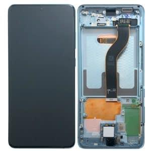 S20 Plus LCD / Scherm met frame voor Samsung Galaxy S20 Plus – Origineel – Service pack – Blauw