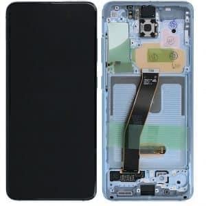 S20 LCD / Scherm met frame voor Samsung Galaxy S20 – Origineel – Service pack – Blauw