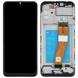 A02S LCD / Scherm voor Samsung Galaxy A02S – Origineel – Service pack – Zwart