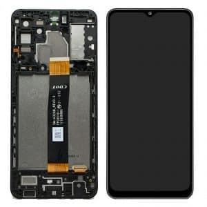 A32 5G LCD / Scherm met frame voor Samsung Galaxy A32 5G – Origineel – Service pack – Zwart